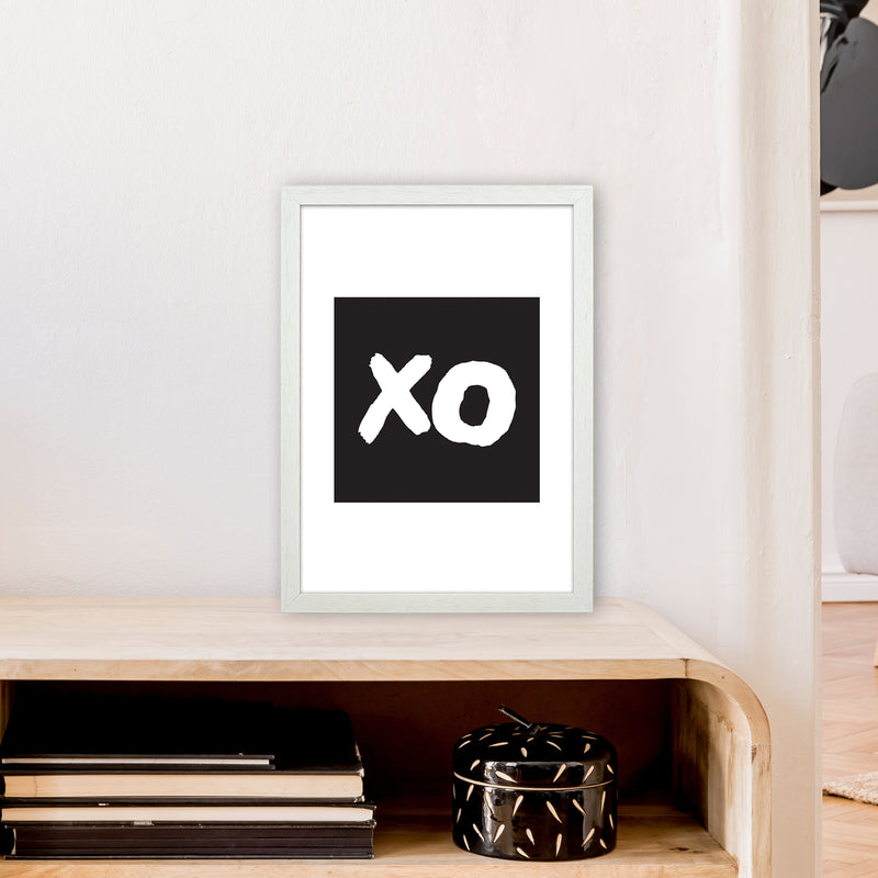 Xo Black Box  Art Print by Pixy Paper A3 Oak Frame