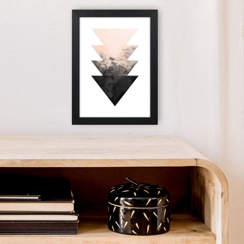 Nude And Black Watercolour 4 Art Print by Pixy Paper A4 White Frame