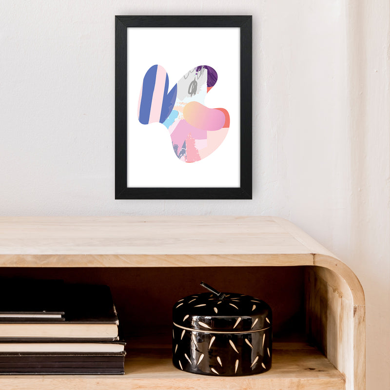 Pink Butterfly Abstract Shape  Art Print by Pixy Paper A4 White Frame