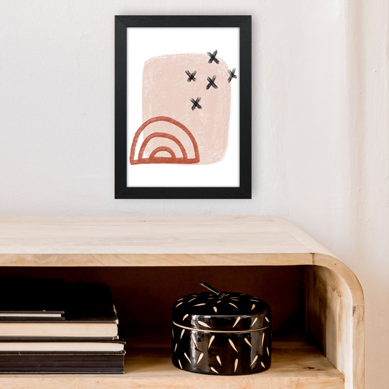 Dalia Chalk Red Rainbow  Art Print by Pixy Paper A4 White Frame