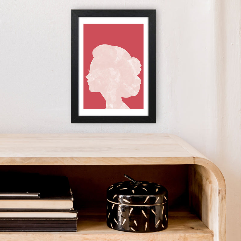 Marble Head Red  Art Print by Pixy Paper A4 White Frame
