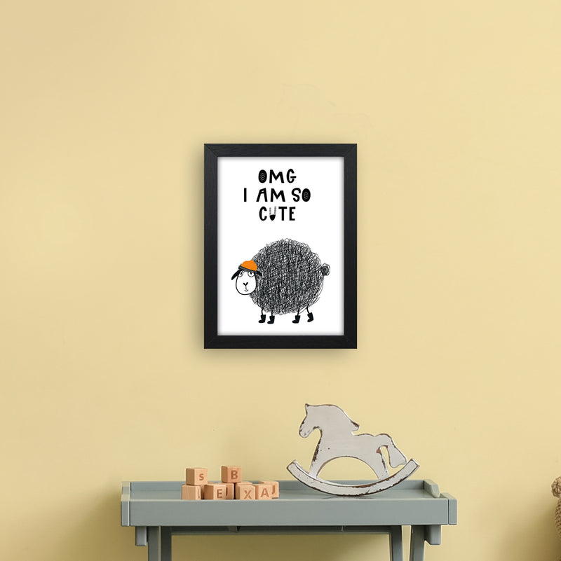 Omg I Am So Cute Animal Pop  Art Print by Pixy Paper A4 White Frame