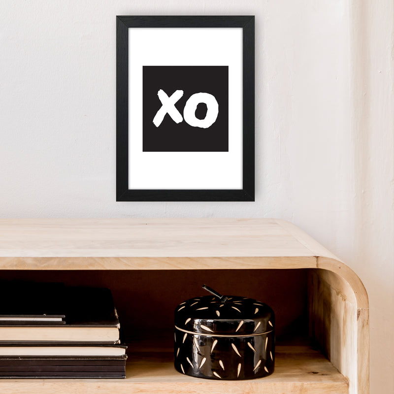 Xo Black Box  Art Print by Pixy Paper A4 White Frame