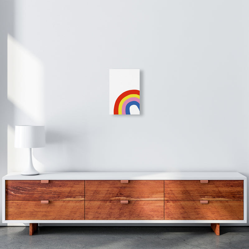 Rainbow In Corner  Art Print by Pixy Paper A4 Canvas