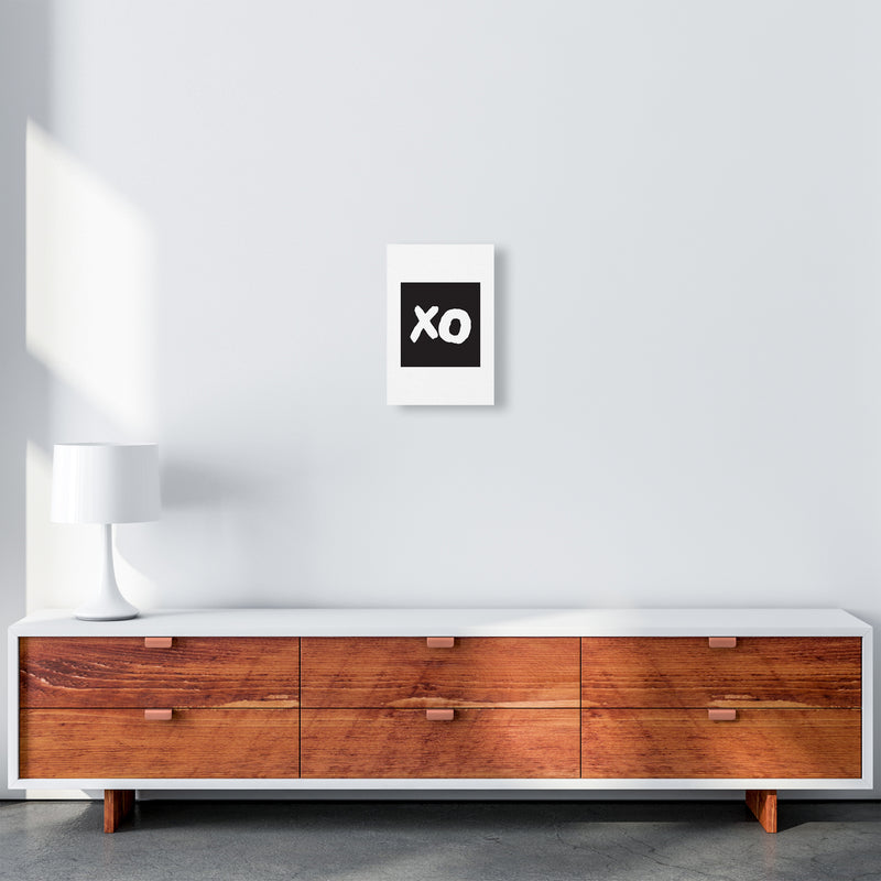 Xo Black Box  Art Print by Pixy Paper A4 Canvas