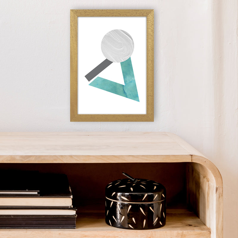 Marble Teal And Silver 3 Art Print by Pixy Paper A4 Print Only