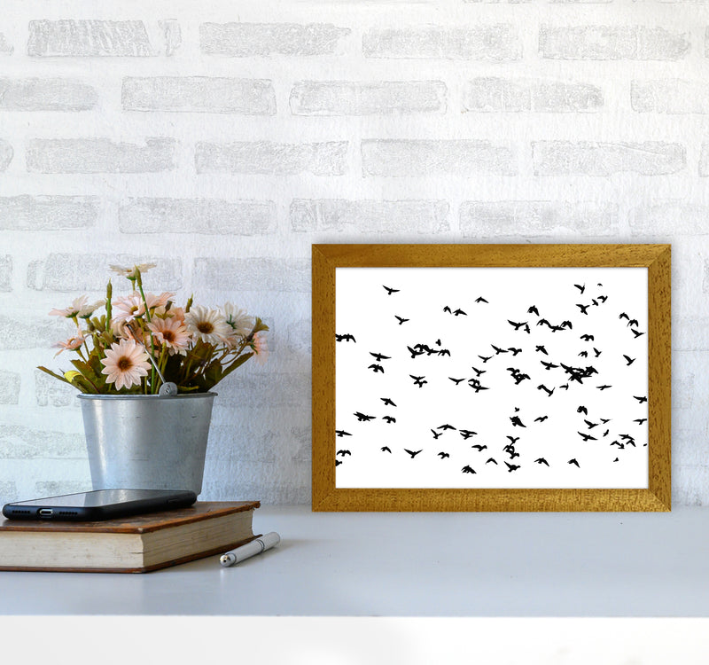 Flock Of Birds Landscape Art Print by Pixy Paper A4 Print Only