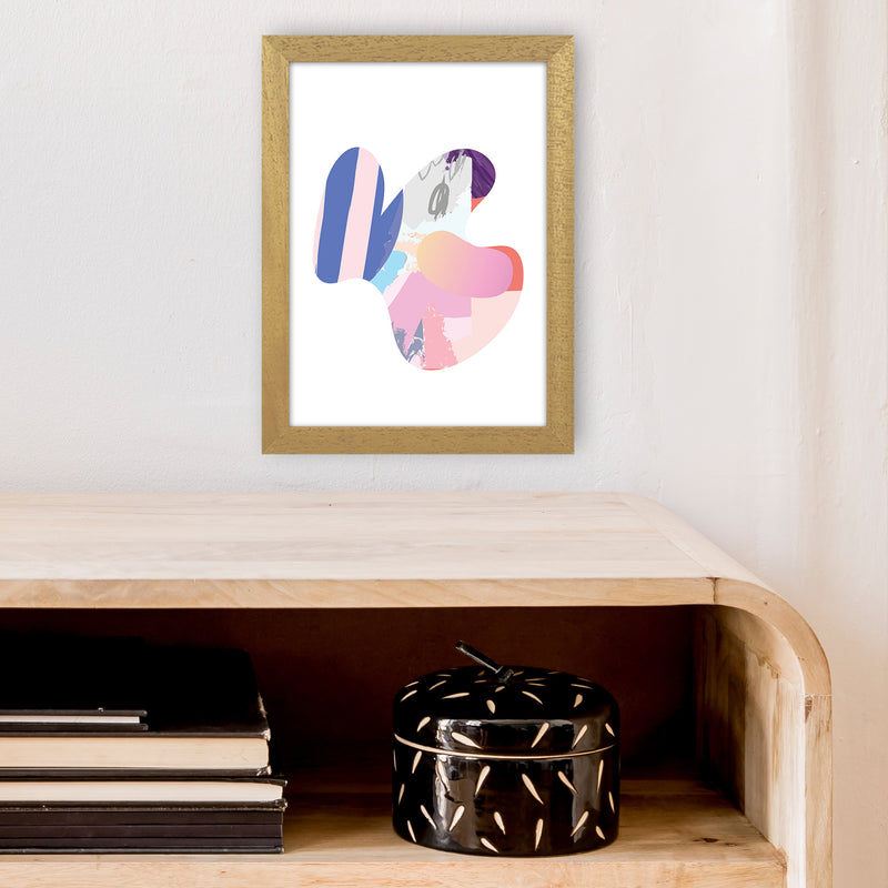 Pink Butterfly Abstract Shape  Art Print by Pixy Paper A4 Print Only