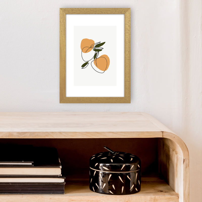 Mica Apricots N3  Art Print by Pixy Paper A4 Print Only