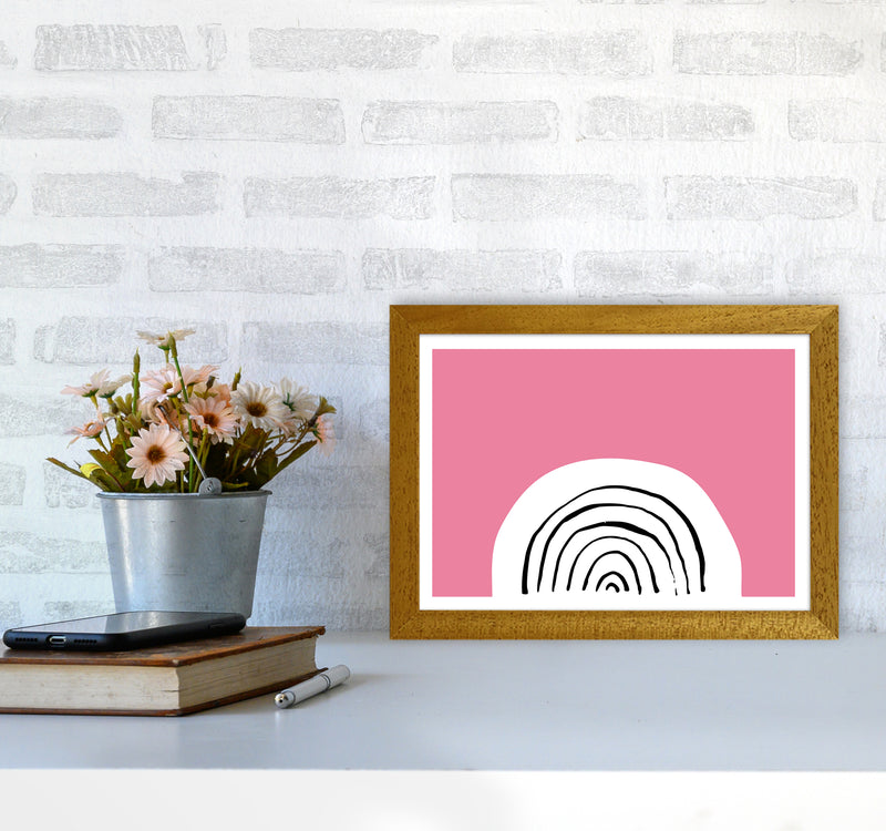 Pink Rainbow Neon Funk  Art Print by Pixy Paper A4 Print Only