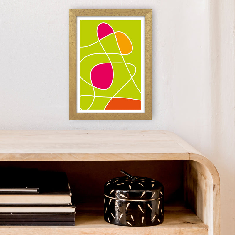 Lime Mess Neon Funk  Art Print by Pixy Paper A4 Print Only