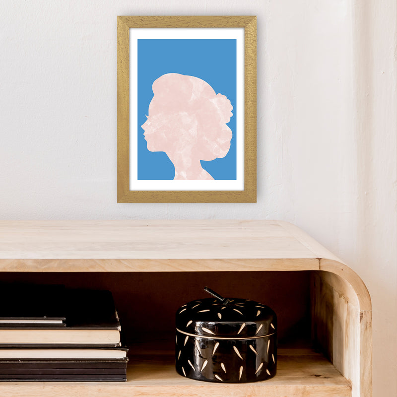 Marble Head Blue  Art Print by Pixy Paper A4 Print Only