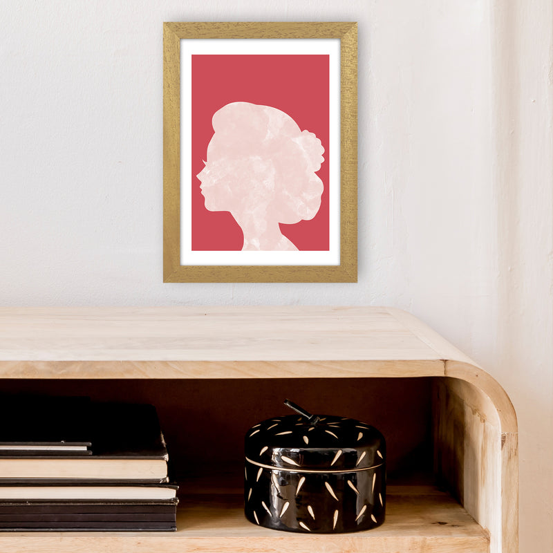 Marble Head Red  Art Print by Pixy Paper A4 Print Only