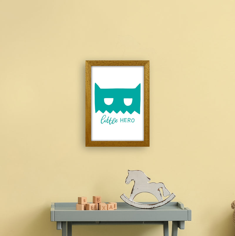 Little Hero Mask Teal Super Scandi  Art Print by Pixy Paper A4 Print Only