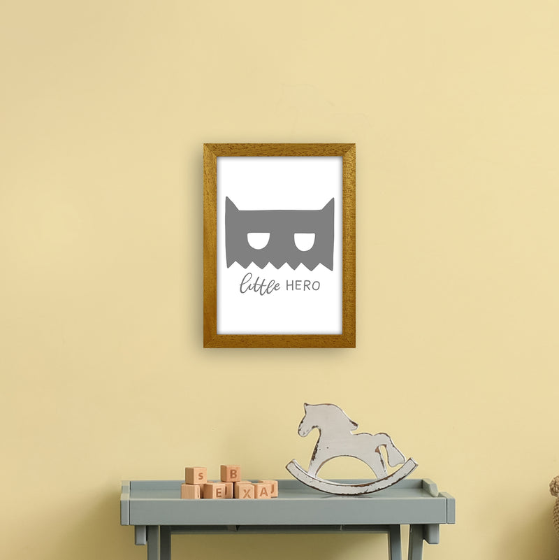 Little Hero Mask Super Scandi Grey  Art Print by Pixy Paper A4 Print Only