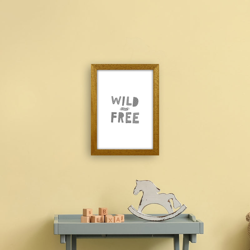 Wild And Free Grey Super Scandi  Art Print by Pixy Paper A4 Print Only