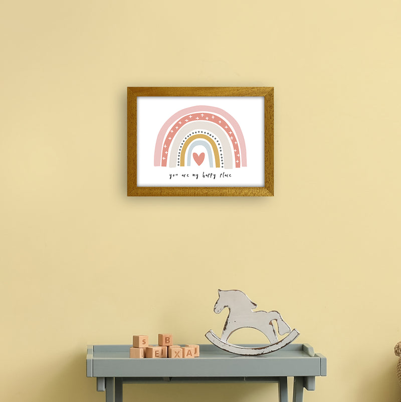 You Are My Happy Place Rainbow  Art Print by Pixy Paper A4 Print Only