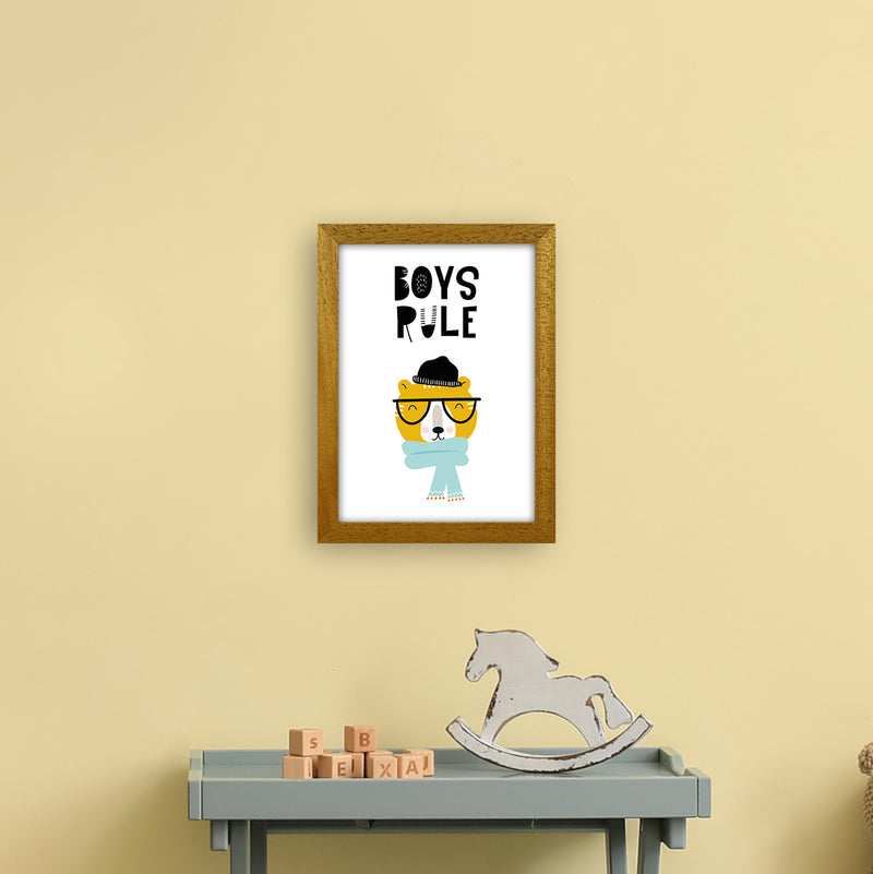 Boys Rule Animal Pop  Art Print by Pixy Paper A4 Print Only