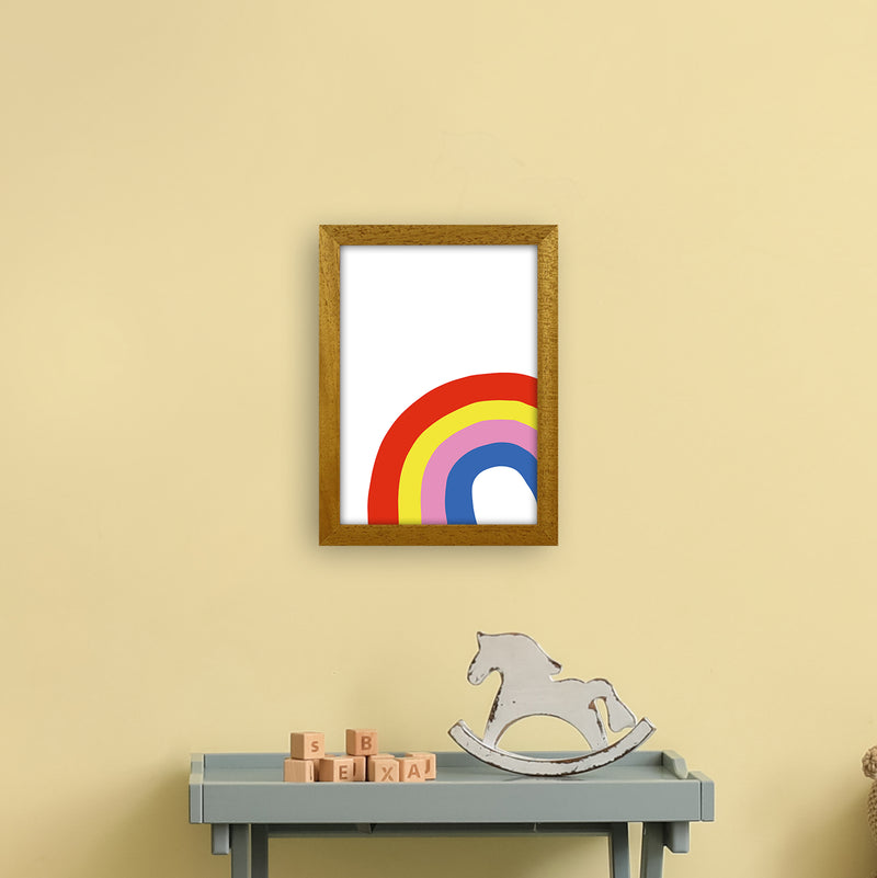 Rainbow In Corner  Art Print by Pixy Paper A4 Print Only