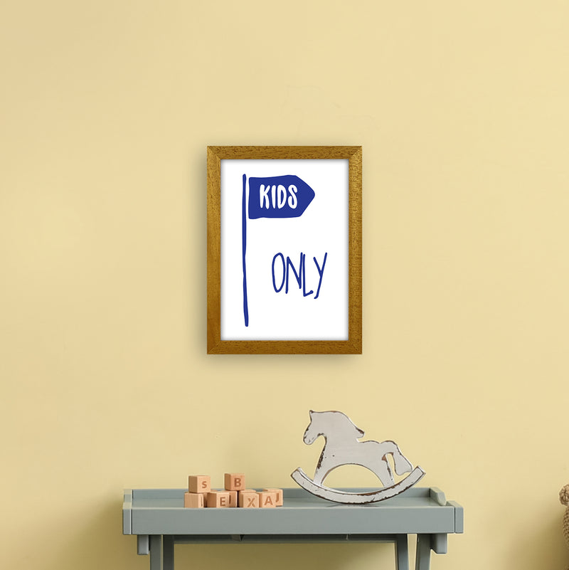 Kids Only Navy  Art Print by Pixy Paper A4 Print Only