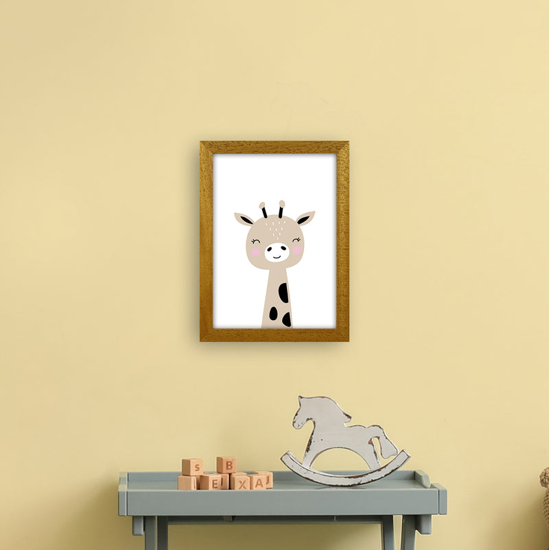Giraffe Brown  Art Print by Pixy Paper A4 Print Only