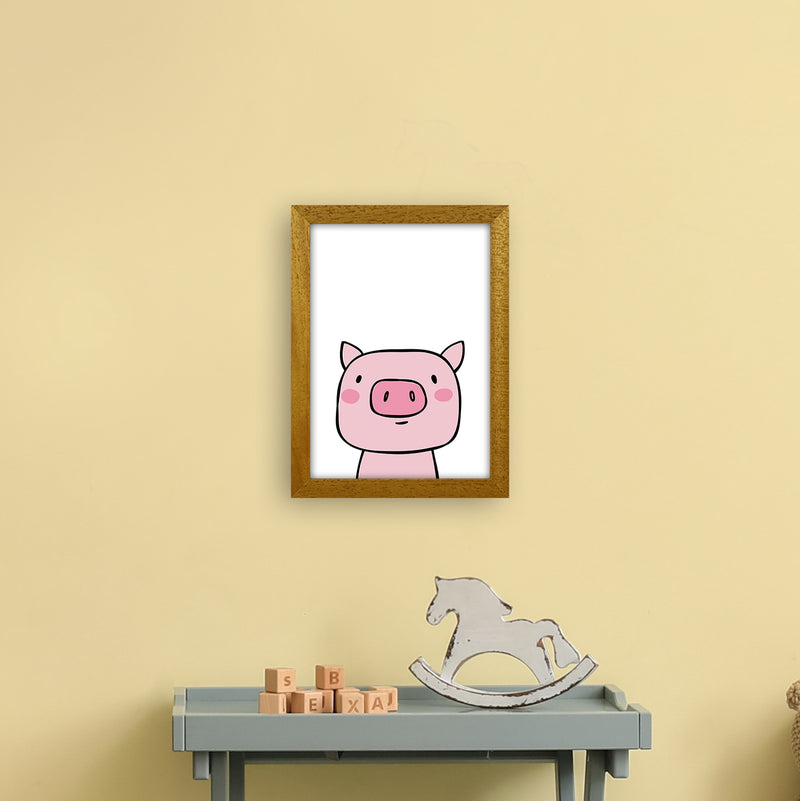 Pig  Art Print by Pixy Paper A4 Print Only