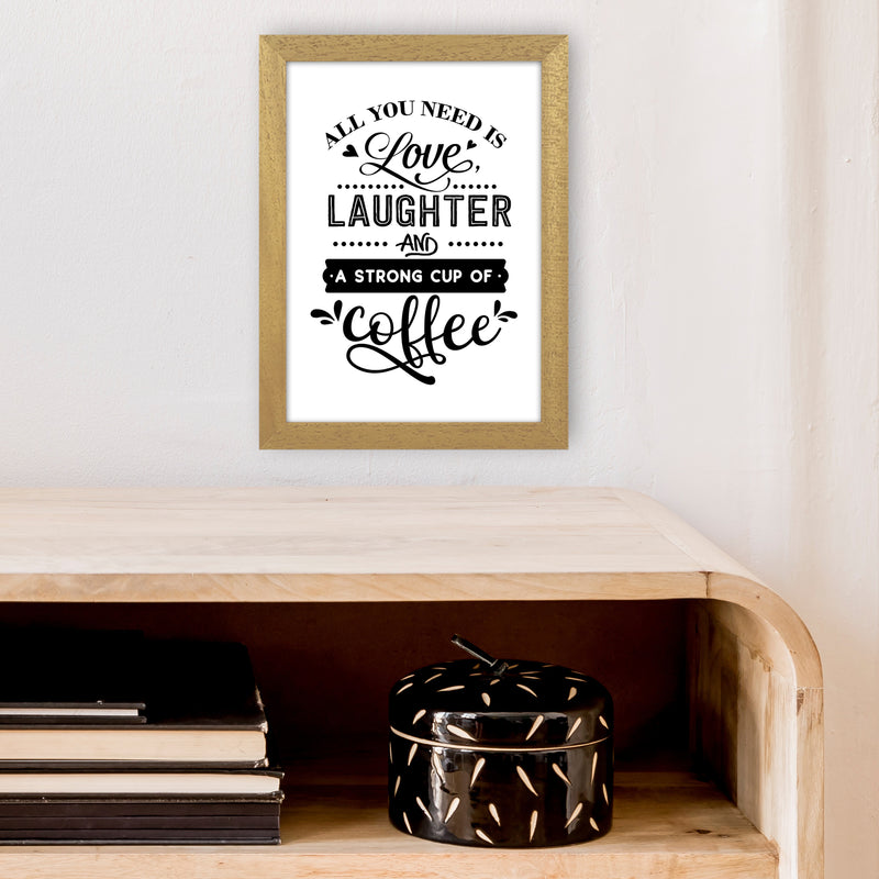 All You Need Is Love And Coffee  Art Print by Pixy Paper A4 Print Only
