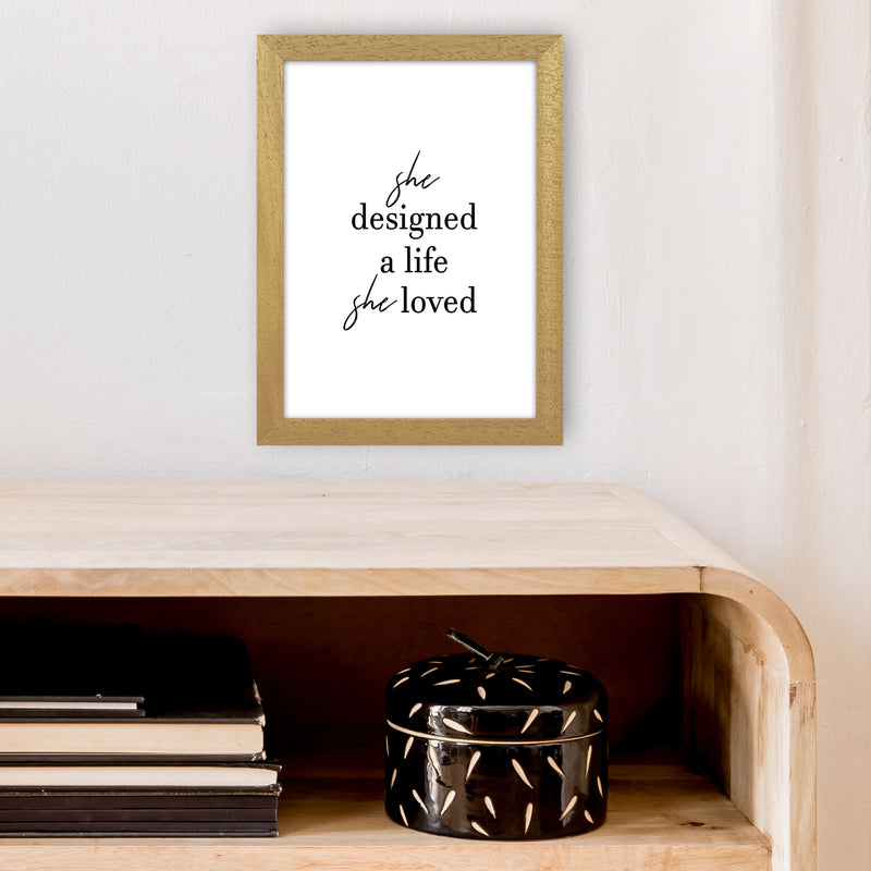 She Designed A Life  Art Print by Pixy Paper A4 Print Only