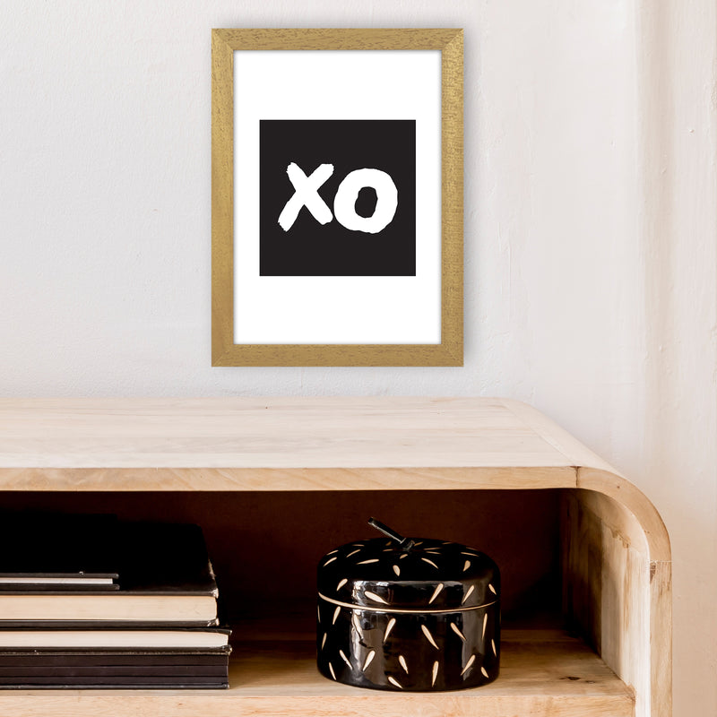 Xo Black Box  Art Print by Pixy Paper A4 Print Only