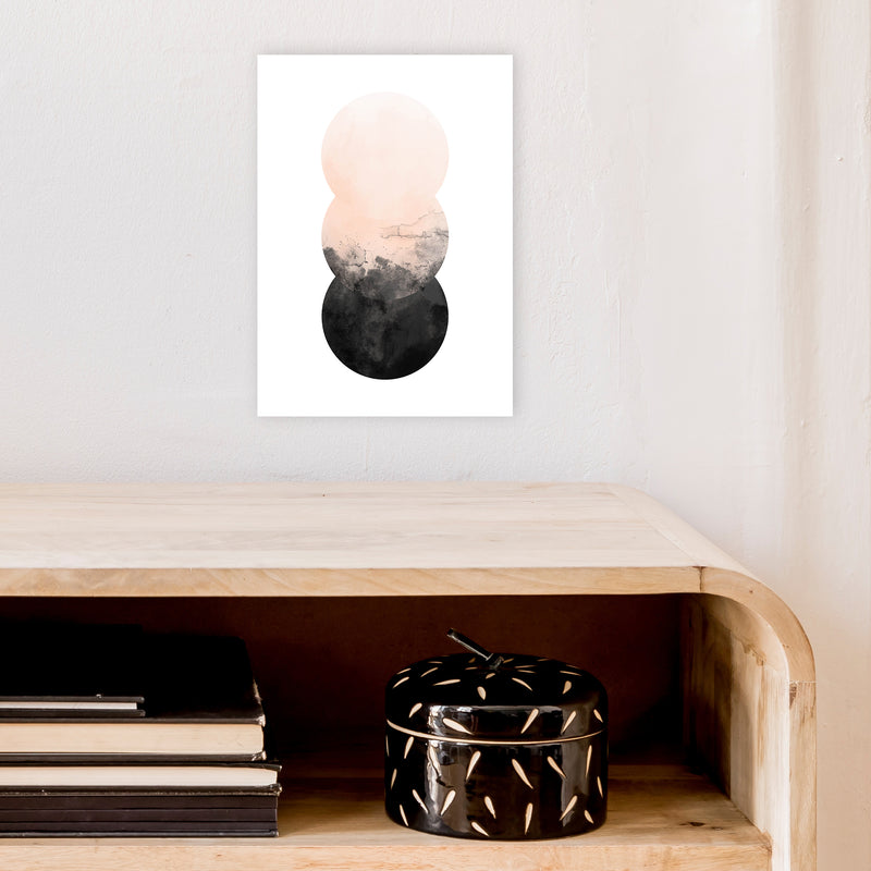 Nude And Black Watercolour 5 Art Print by Pixy Paper A4 Black Frame