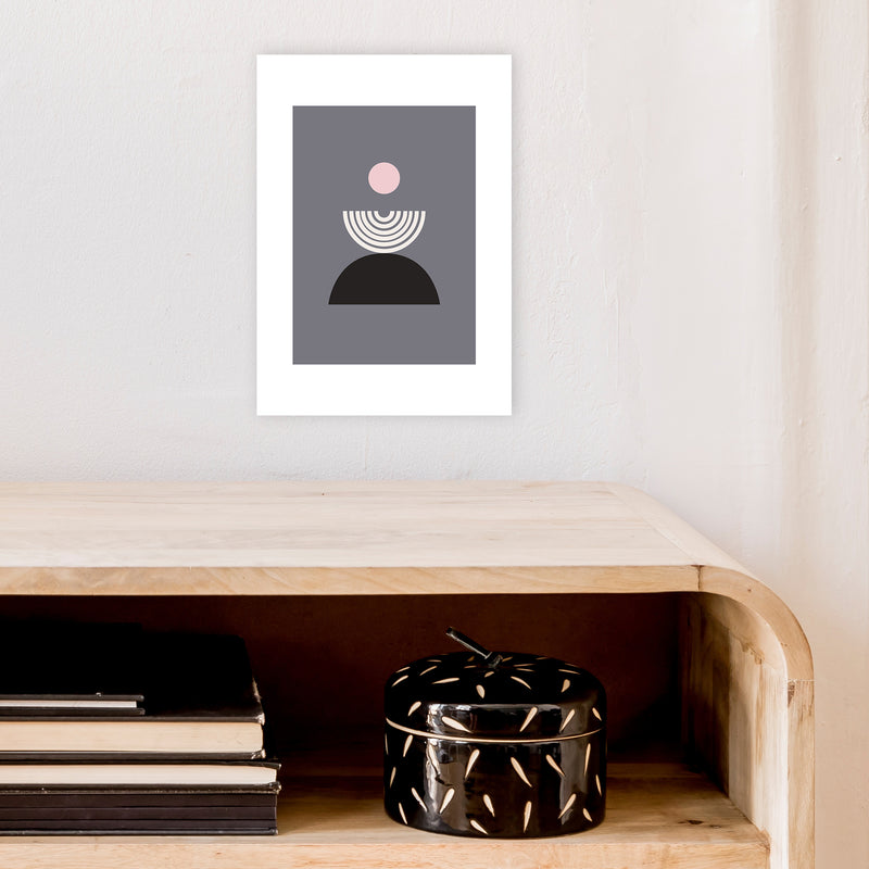 Mila Pink Fountain N9  Art Print by Pixy Paper A4 Black Frame