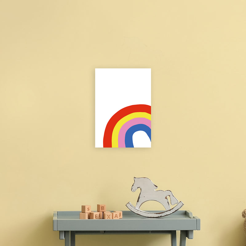 Rainbow In Corner  Art Print by Pixy Paper A4 Black Frame