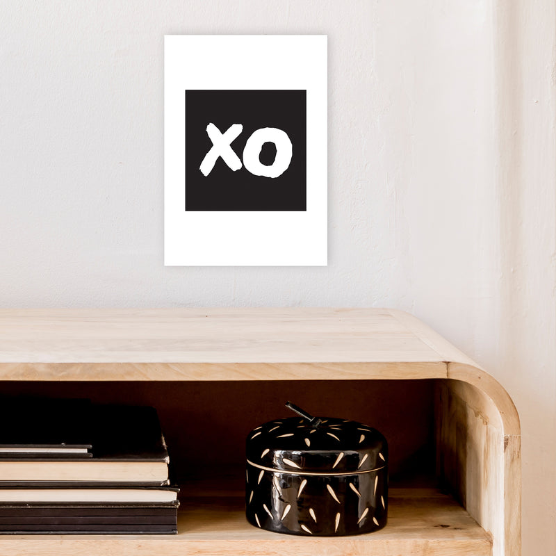 Xo Black Box  Art Print by Pixy Paper A4 Black Frame