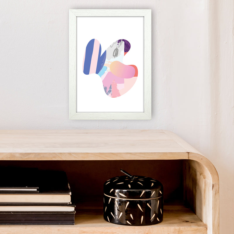 Pink Butterfly Abstract Shape  Art Print by Pixy Paper A4 Oak Frame