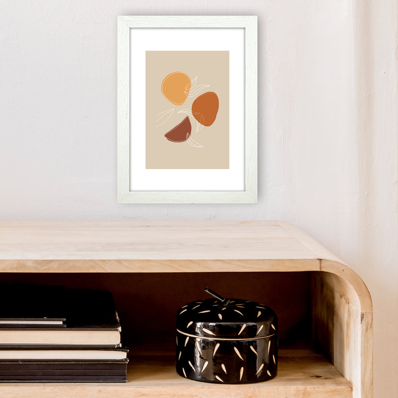 Mica Fruit N2  Art Print by Pixy Paper A4 Oak Frame