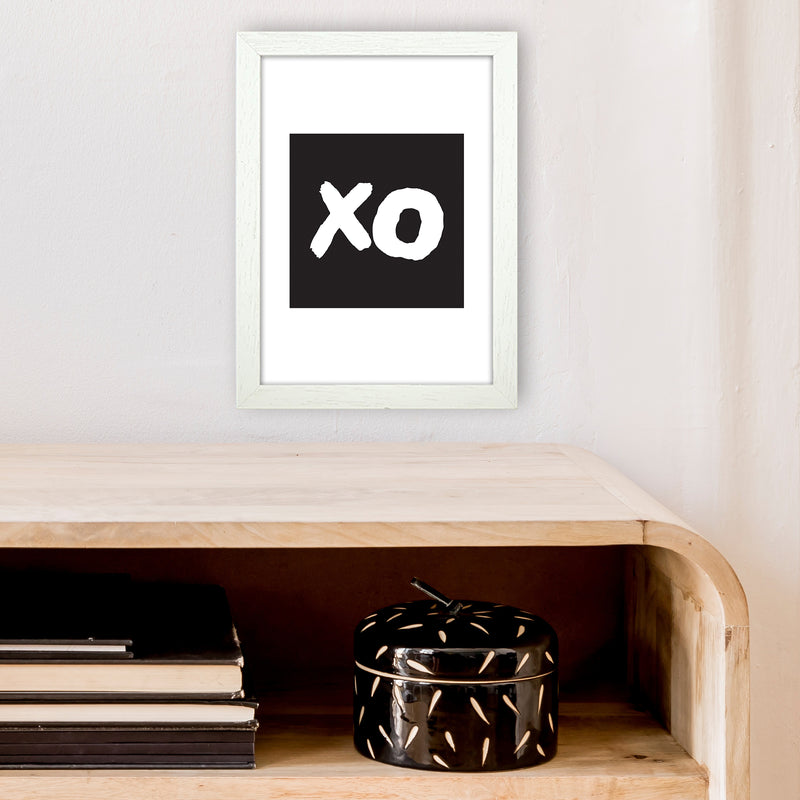 Xo Black Box  Art Print by Pixy Paper A4 Oak Frame