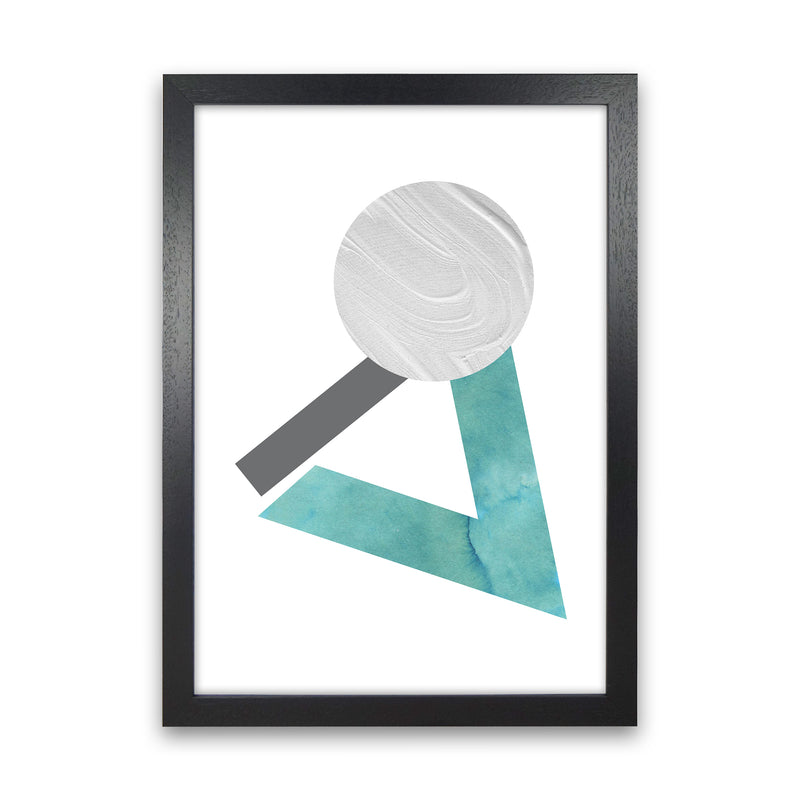 Marble Teal And Silver 3 Art Print by Pixy Paper Black Grain
