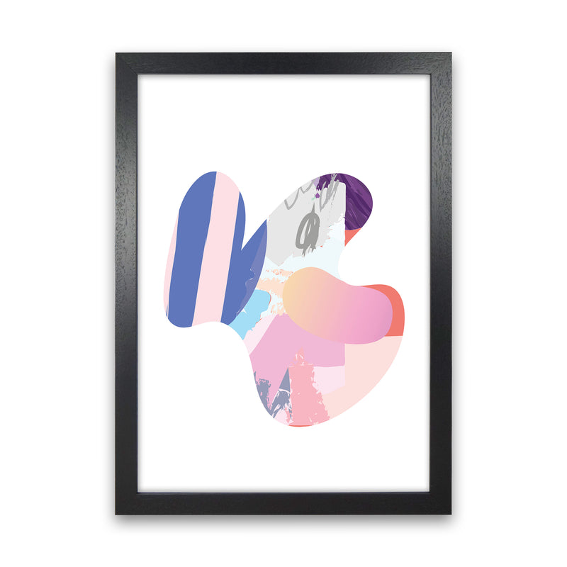 Pink Butterfly Abstract Shape  Art Print by Pixy Paper Black Grain