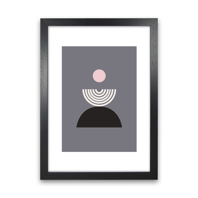 Mila Pink Fountain N9  Art Print by Pixy Paper Black Grain
