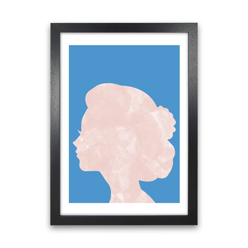 Marble Head Blue  Art Print by Pixy Paper Black Grain