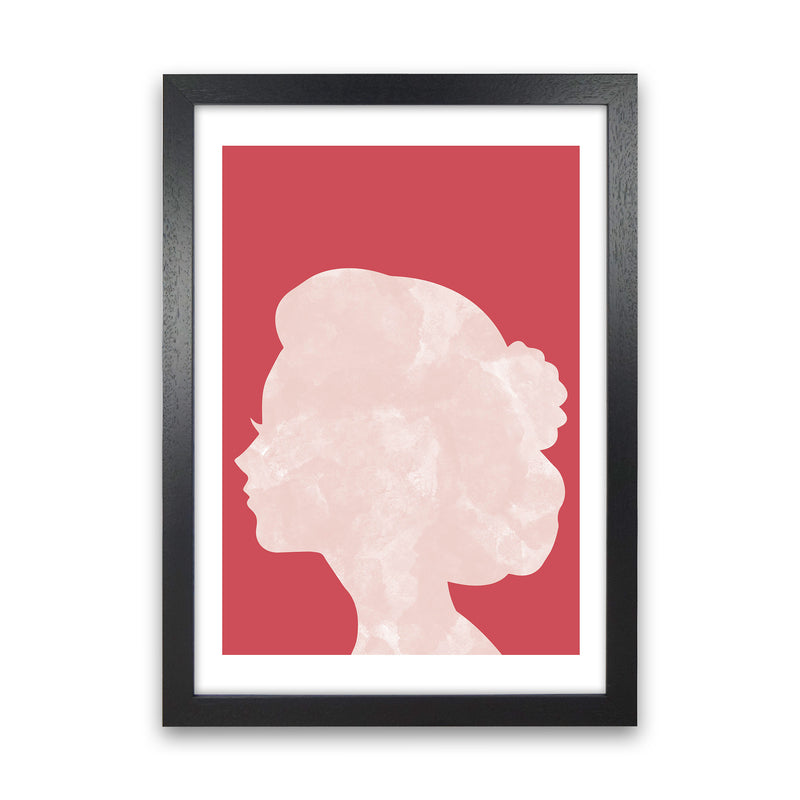 Marble Head Red  Art Print by Pixy Paper Black Grain