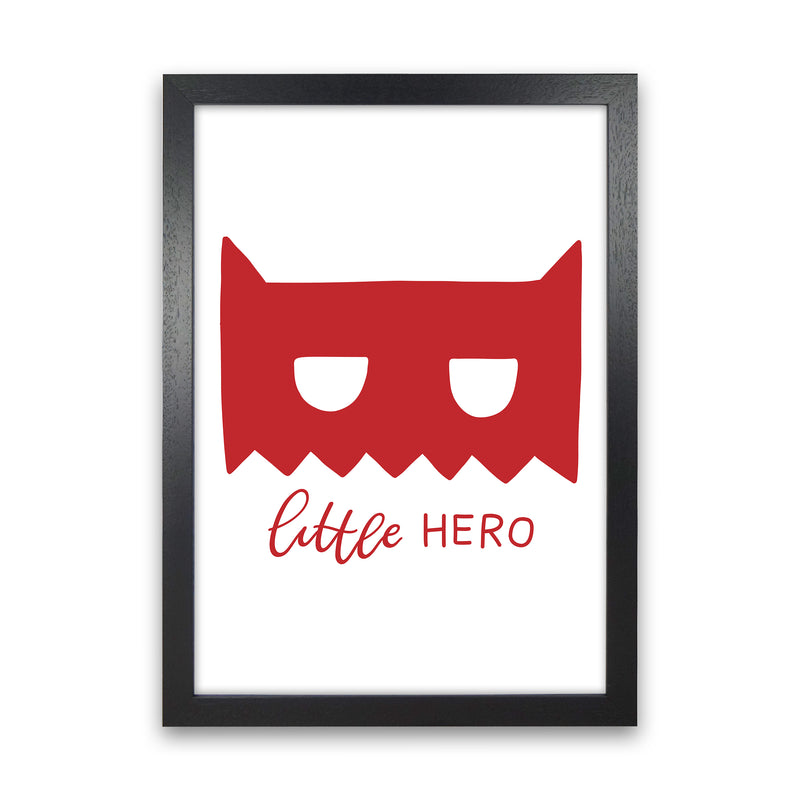Little Hero Mask Red Super Scandi  Art Print by Pixy Paper Black Grain