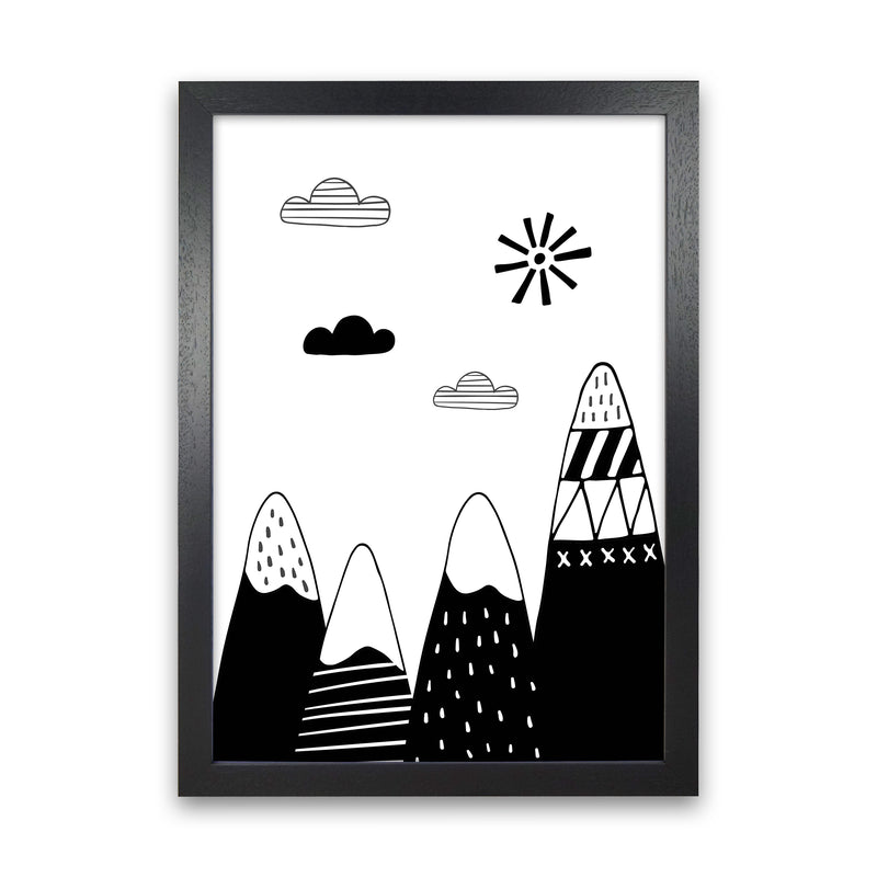 Scandinavian Mountains  Art Print by Pixy Paper Black Grain