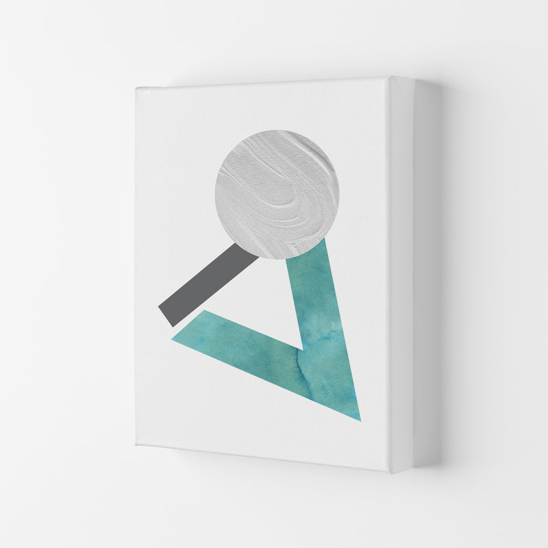 Marble Teal And Silver 3 Art Print by Pixy Paper Canvas