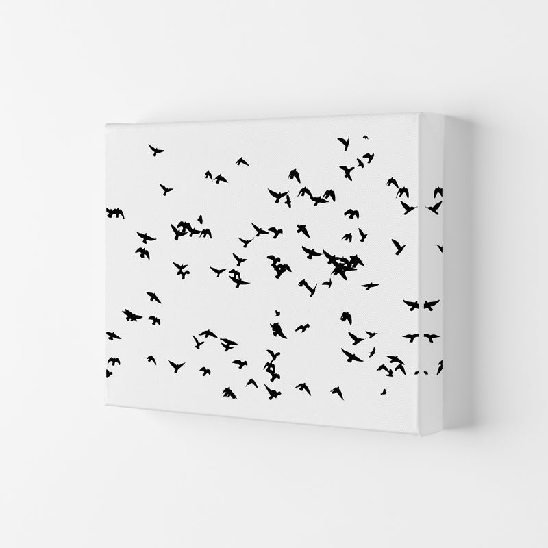 Flock Of Birds Landscape Art Print by Pixy Paper Canvas
