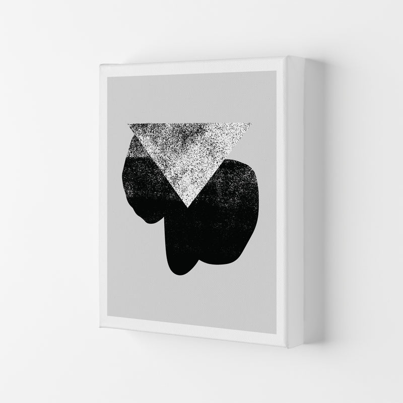 Graffiti Black And Grey Triangle  Art Print by Pixy Paper Canvas