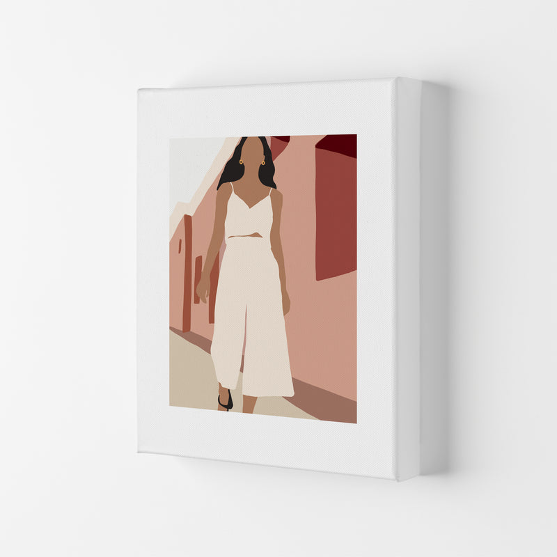 Mica Girl In Street N7  Art Print by Pixy Paper Canvas