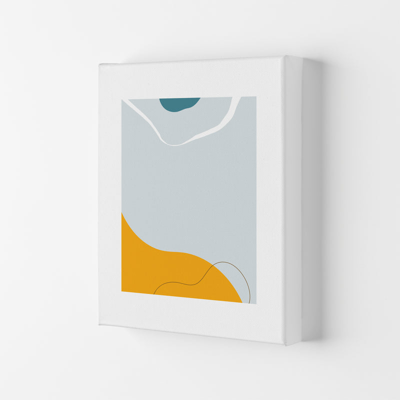 Mita Teal Abstract N21  Art Print by Pixy Paper Canvas