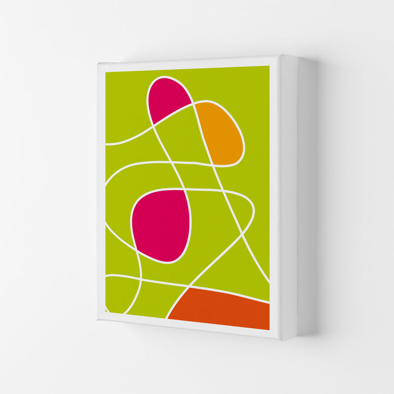 Lime Mess Neon Funk  Art Print by Pixy Paper Canvas