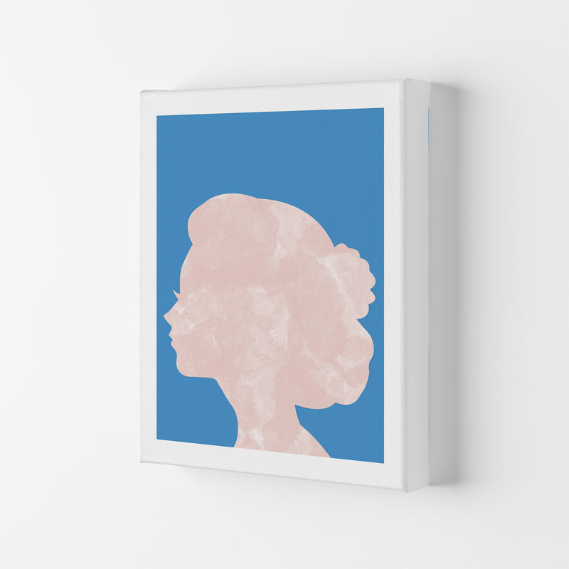 Marble Head Blue  Art Print by Pixy Paper Canvas